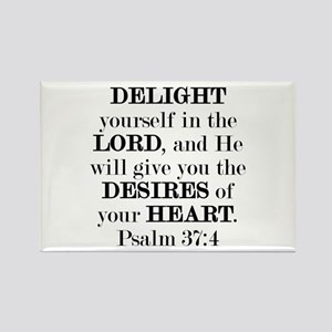 Psalm 37:4 Rectangle Magnet Magnets